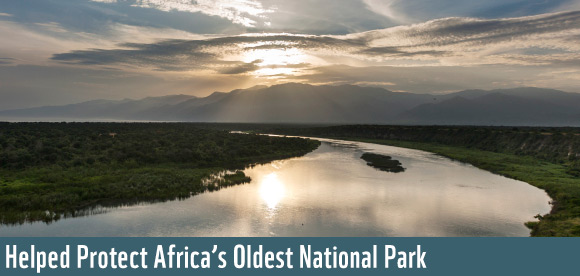 Helped Protect Africa's Oldest National Park