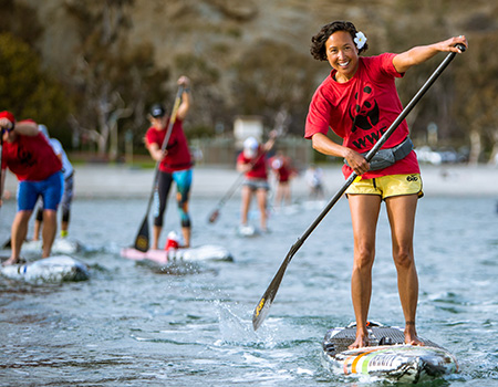Standup paddle boarders