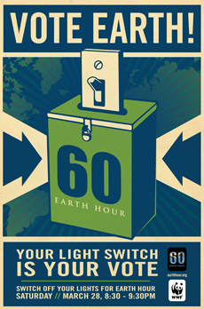 Earth Hour commemorative poster