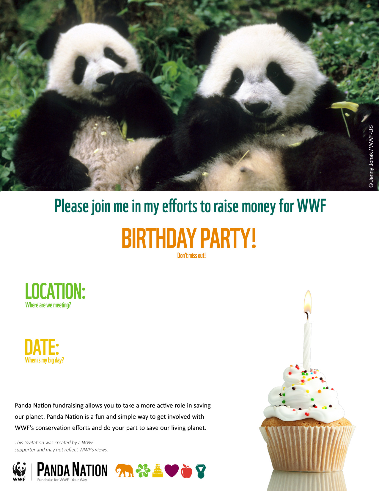 Fundraising Toolkit Panda Nation World Wildlife Fund