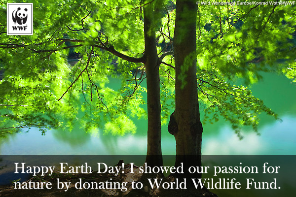 Earth Day Donation Ecard Tree
